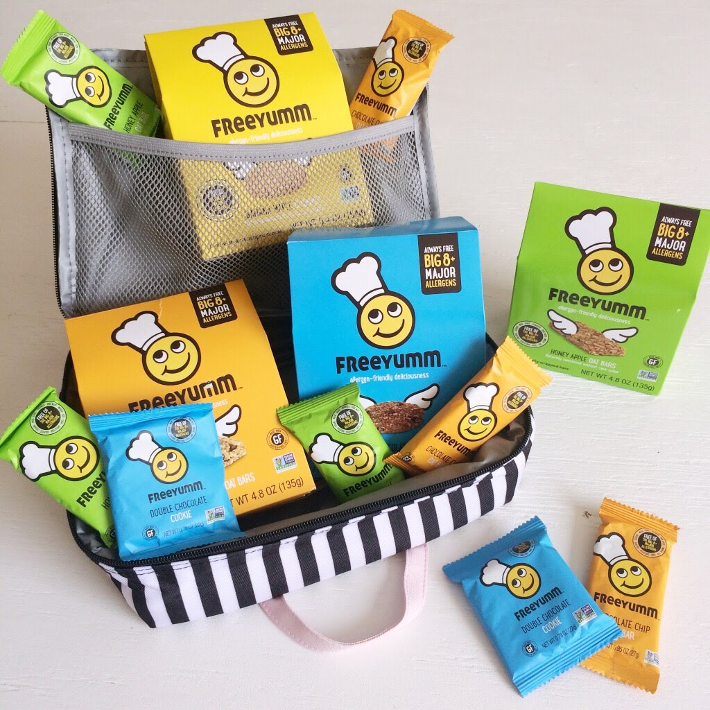 Must have preschool lunch items include these FreeYumm bars and cookies which are free from the big 8 food allergies.