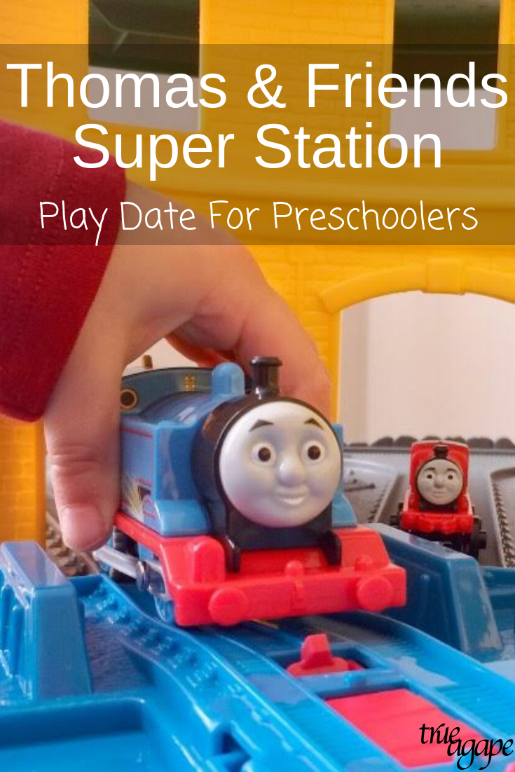 Thomas & Friends Super Station play date is a fun theme to host! Take a look at the things I consider when planning the activities for a play date!