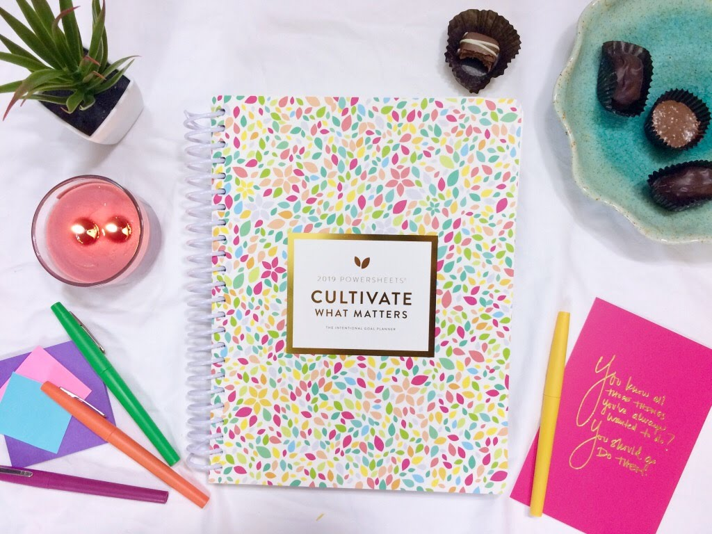 2019 Goal Planner Cultivate What Matters PowerSheets