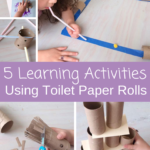 Learning activities using toilet paper rolls are an easy way to keep your kids entertained. Go check out all 5 activities now!