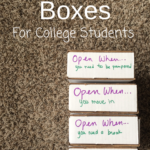 Open when boxes for college students are gifts that keep giving all semester long. Check out the list of ideas now!