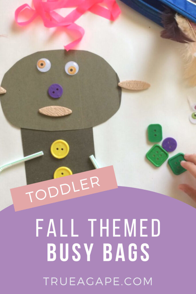 These fall themed busy bags are perfect for those cozy days indoors! Included is everything from toddler arts and crafts, cutting practice, and even early math activities. Set your toddler up with a fall themed busy bag and watch them grow!